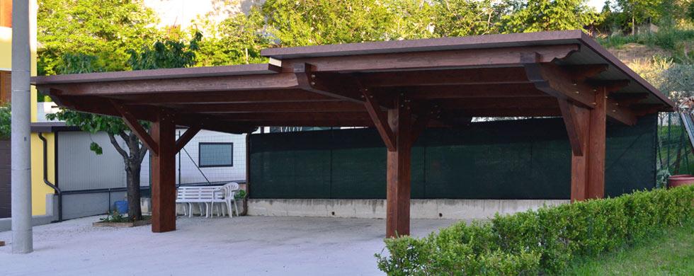 Carport carport in legno a struttura unica euroistal for Carport 2 posti