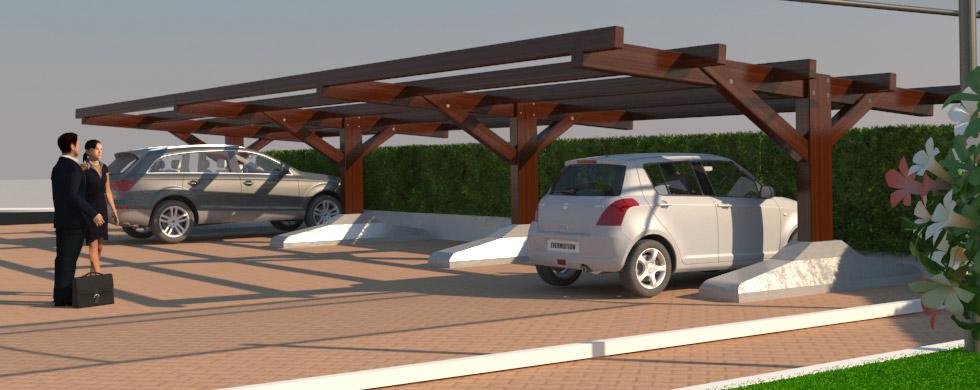 Strutture in legno carport in legno tettoie in legno for Case in legno senza fondamenta